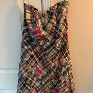American Eagle - Plaid Strapless Dress - Size 12